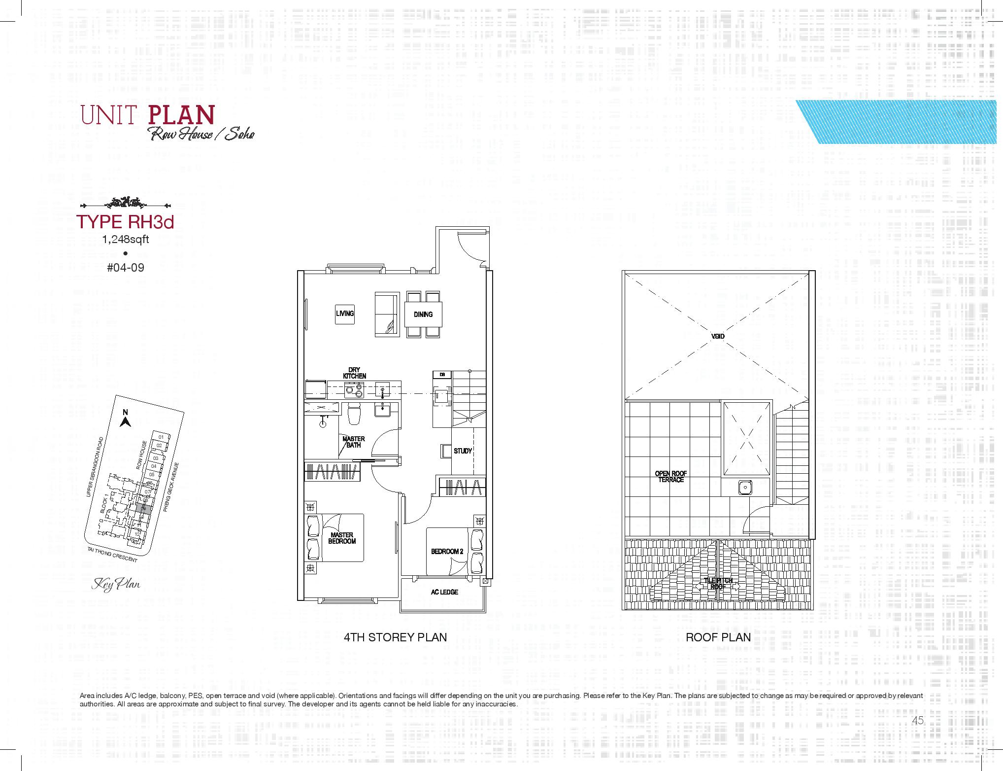 Row house 2 bed s ph sant ritz for Row home floor plans